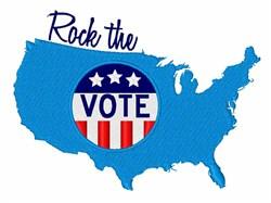 Rock The Vote embroidery design