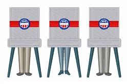 Voting Booths embroidery design