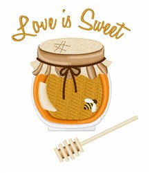 Love Is Sweet embroidery design
