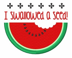 Swallowed A Seed embroidery design