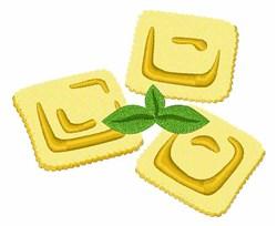 Ravioli Pasta embroidery design