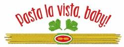 Pasta La Vista embroidery design