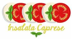 Insalata Caprese embroidery design