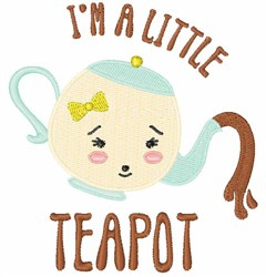 A Little Teapot embroidery design