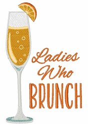 Ladies Who Brunch embroidery design