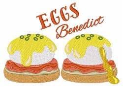 Eggs Benedict embroidery design