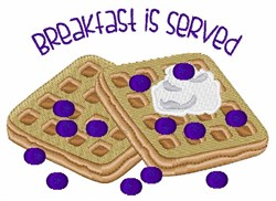 Breakfast Served embroidery design