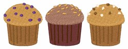 Breakfast Muffins embroidery design