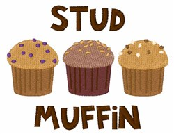 Stud Muffin embroidery design