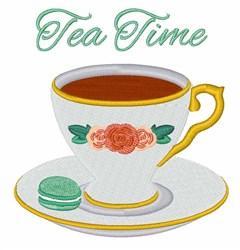 Tea Time embroidery design