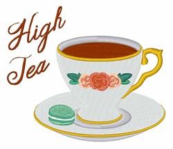 High Tea embroidery design