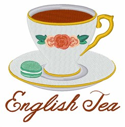English Tea embroidery design