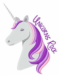 Unicorns Rock embroidery design