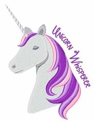 Unicorn Whisperer embroidery design