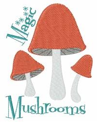 Magic Mushrooms embroidery design