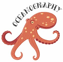 Oceanography embroidery design