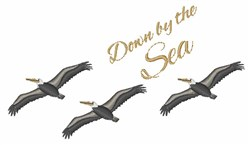 By The Sea embroidery design