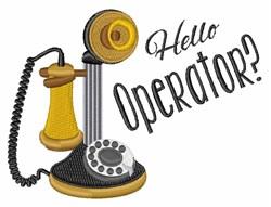 Hello Operator embroidery design