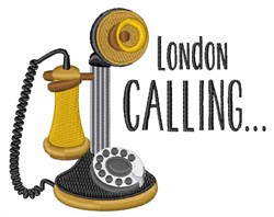 London Calling embroidery design