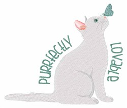 Purrfectly Loveable embroidery design