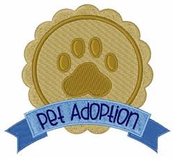 Pet Adoption embroidery design