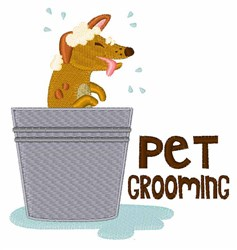 Pet Grooming embroidery design