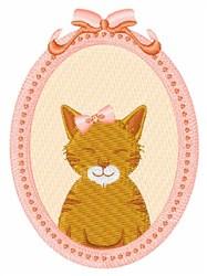 Framed Cat embroidery design