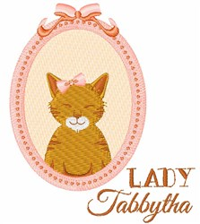 Lady Tabbytha embroidery design