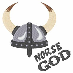 Norse God embroidery design