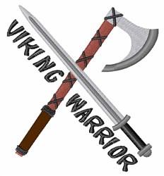 Viking Warrior embroidery design