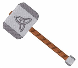 Thors Hammer embroidery design