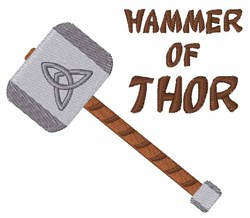 Hammer of Thor embroidery design