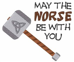Norse Be With You embroidery design