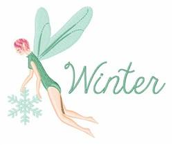 Winter Fairies embroidery design