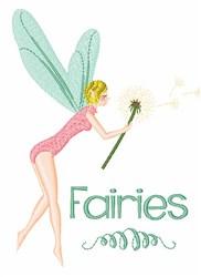 Fairies embroidery design