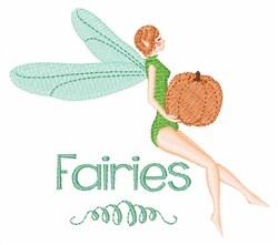 Pumpkin Fairies embroidery design
