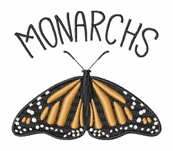 Monarchs embroidery design