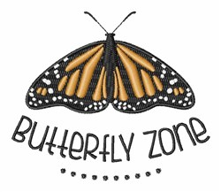 Butterfly Zone embroidery design