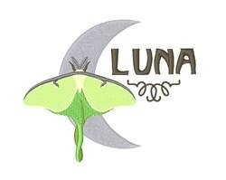 Luna Moon Moth embroidery design
