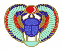 Egyptian Scarab embroidery design