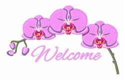 Orchid  Welcome embroidery design