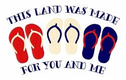 Patriotic Flip Flops embroidery design