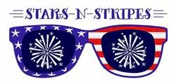 Stars N Stripes Sunglasses embroidery design