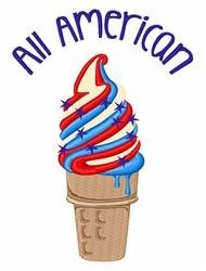 All American Ice Cream embroidery design