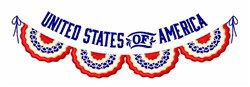 United States Banner embroidery design