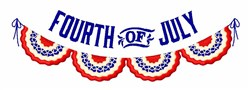 Fourth Of July embroidery design