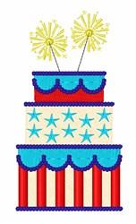 USA Cake embroidery design