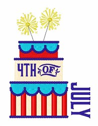 4th Of July Cake embroidery design