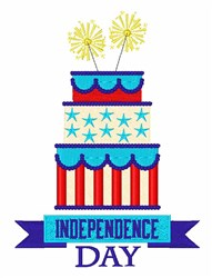 Independence Day Cake embroidery design