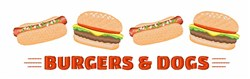 Burgers & Dogs embroidery design